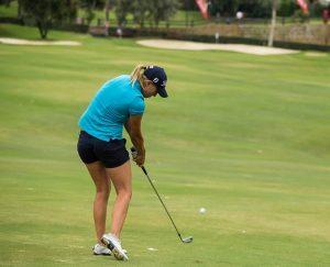 how to hit hybrid golf club
