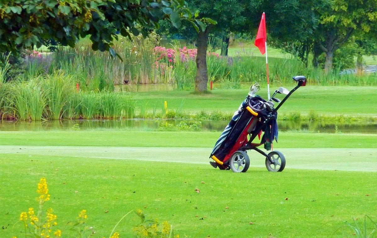 how to set up a golf bag
